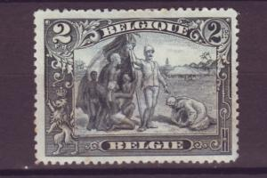 J21296 Jlstamps 1915-20 belgium mh #120 the congo perf 14, 2 scans