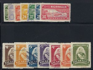NICARAGUA C222-35 USED SCV $3.60 BIN $1.45 PLACES, PERSON