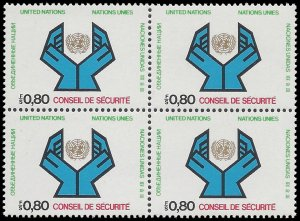 UN Geneva 1977 #67 Mint NH Block of 4