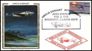 US Amelia Earhart Anniversary 1978 ASDA Colorano Cover