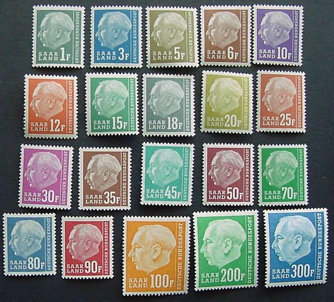 Germany, Saar, Scott 289-308, MNH Set