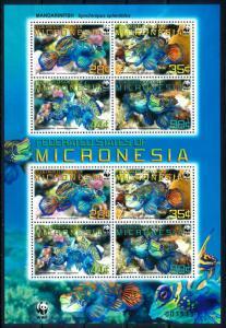 [66840] Micronesia 2009 Marine Life Fish WWF Sheet MNH