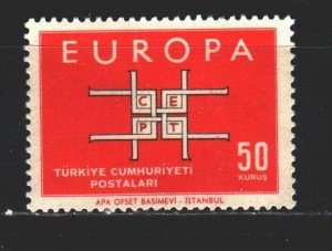 Turkey. 1963. 1888 from the series. Europe Sept. MNH.