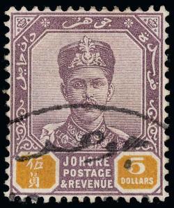 Malaya / Johore Scott 37-51 Gibbons 39-53 Used Set of Stamps