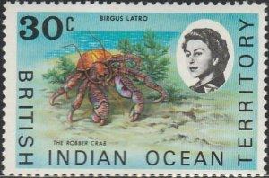 British Indian Ocean Territory, # 21 Unused From 1968-73.
