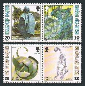 Isle of Man 558-561a,MNH.Michel 546-549. EUROPE CEPT-1993.Bryan Kneale Art.Bear.