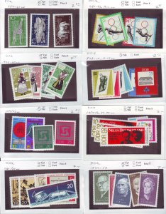Z636 JL stamps germany DDR mnh with sets on sales cards, been checked & sound