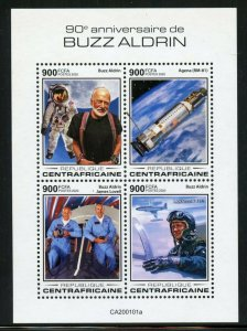 CENTRAL AFRICA 2019 90th BIRTH OF BUZZ ALDRIN APOLLO 11  SHEET  MINT NH