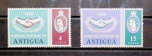 British Colony Antigua 1965 Intern. Co-operation Year MH* Full Set A22P16F8713