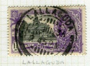 INDIA; POSTMARK fine used cancel on GV issue, Lallaguda