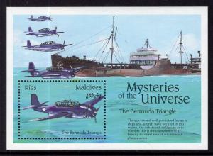 Maldive Islands 1771 Bermuda Triangle Souvenir Sheet MNH VF