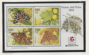 Ireland Sc 934b 1994 Moths stamp sheet mint PHILAKOREA ovpt