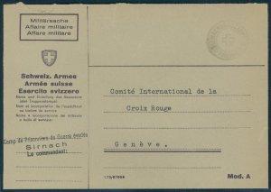 Switzerland WWII Internment Camp Sirnach Soldier Feldpost Cover G54082