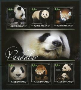 AZERBAIJAN  2018  PANDAS  SHEET MINT NEVER HINGED