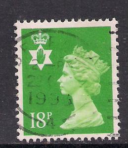 Northern Ireland GB 1991 QE2 18p Bright Green Machin SG NI 47 ( C641 )