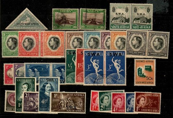 South West Africa - small (*/U) collection mostly sets  (Catalog Value $54.95)