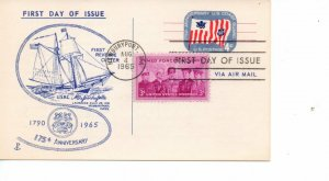 US FDC #UX52 Coast Guard Combo, 1st Cachet Port Coin & Stamp Shop (7833)