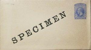 O) 1933 SIERRA LEONE, SPECIMEN, KING GEORGE V, 2 1/2p ultra, POSTAL STATIONERY