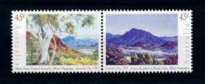[73468] Australia 1993 Paintings Landscapes Trees Mountains Pair MNH