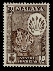MALAYSIA - Negri Sembilan QEII SG73, 10c deep brown, NH MINT.
