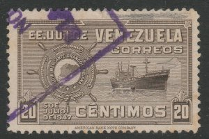 Venezuela 1948-50 20c used South America A4P53F58