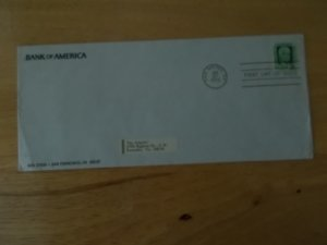 GIANNINI FIRST DAY COVER ON BANK OF AMERICA ENVELOPE