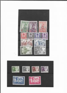 BELGIUM SMALL GROUP OF ANTI TB MINT AND USED