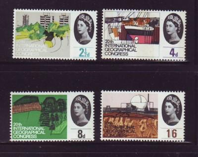 Great Britain Sc 410p-13p 1964 Geographical |Conf. Phosphor stamp set mint NH