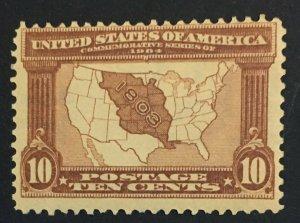 MOMEN: US STAMPS #327 MINT OG NH LOT #43237
