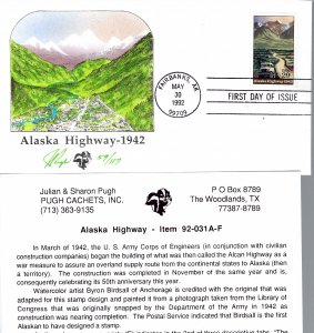 Wonderful Pugh Designed/Painted Alaska Highway FDC...Only 117 Created!