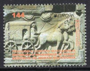 391 - NORTH MACEDONIA 2020 - Europa - Ancient Postal Routes - MNH Set