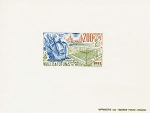 Wallis & Futuna 1992 Sc#425 Columbus 500th.Anniversary DELUXE Souvenir Sheet MNH