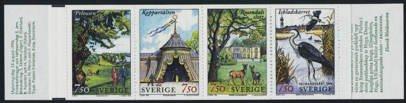 Sweden 2194a Booklet MNH Park, Animals, Deer, Birds