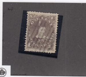 NEWFOUNDLAND # 43 VF-LIGHTLY USED 1ct PRINCE OF WALES CAT VALUE $100