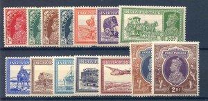 India 1937/40 Part Set SG247/60 Mounted Mint