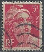 France 540 (used) 3fr Marianne, deep rose (1946)