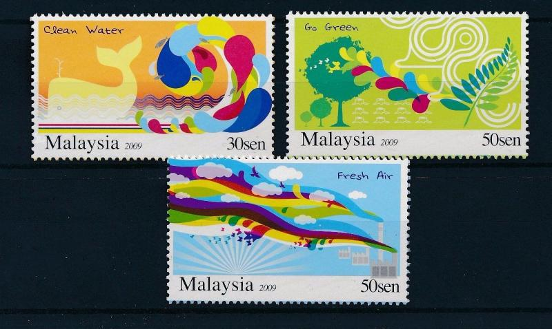 [29280] Malaysia 2009 Animals Birds Whale Go green Clean water MNH