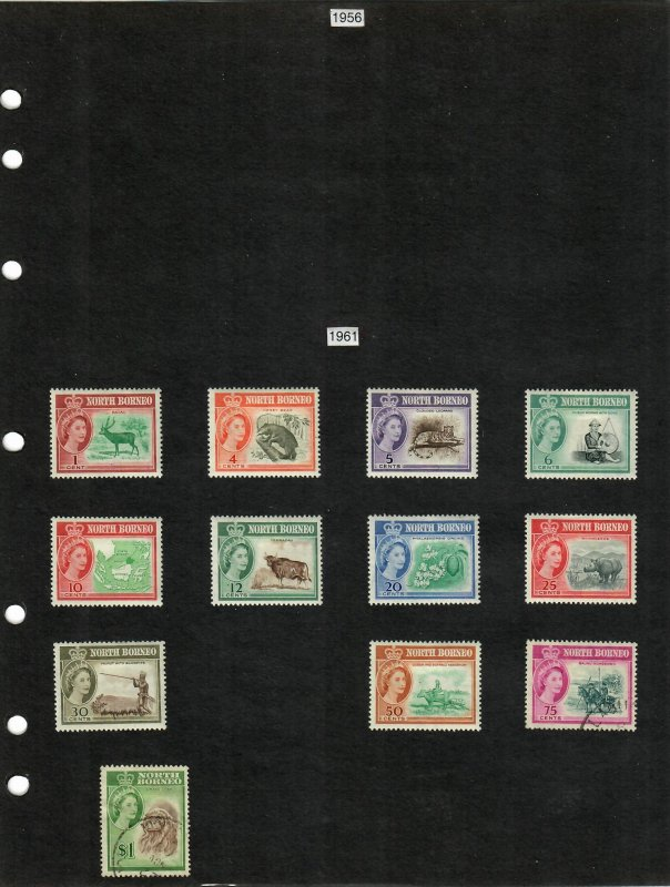 North Borneo Selection of 13 Stamps MH/Used (SCV $16.30) Starting at 5%