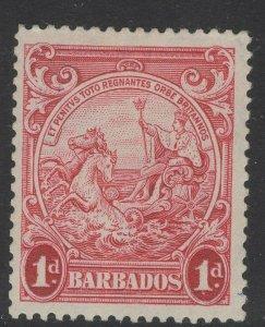 BARBADOS SG249 1939 1d SCARLET p13½x13 MTD MINT