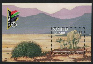 Namibia Black Rhinoceros and Calf MS SG#MS818