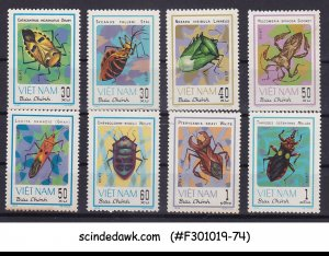 VIETNAM - 1982 INSECTS - BUGS - 8V - MINT NH