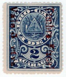 (I.B) Nicaragua Revenue : Duty Stamp 5c on 5c OP (+ 5c postage on reverse)