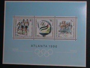 PALESTINIAN AUTHORITY 1996-OLYMPIC GAMES ATLANTA'96 U.S.A -MNH S/S VERY FINE