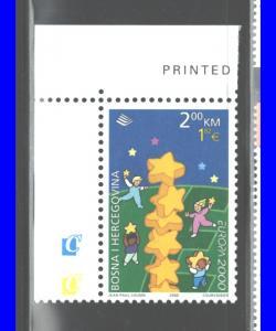 BOSNIA & HERCEGOVINA 2000 EUROPE CEPT  #358 MNH;
