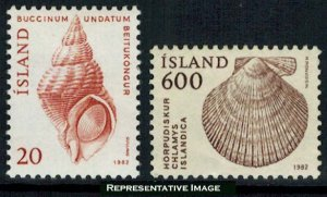 Iceland Scott 552-553 Mint never hinged.