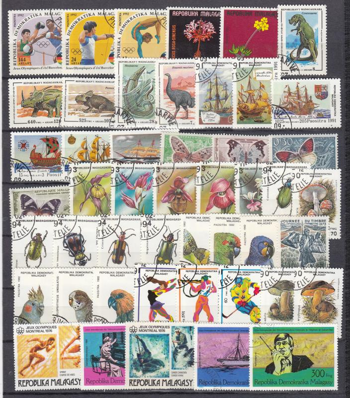 Madagascar - small stamp lot - (2908)
