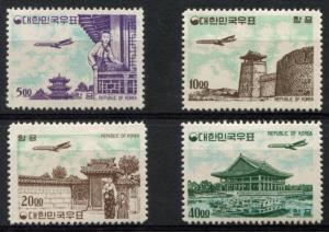 KOREA C27-C30 MINT VLH, AIRPLANES, UNDERLINED ZEROS