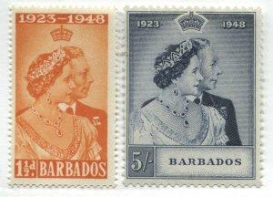 Barbados KGVI 1948 Silver Wedding set mint o.g.