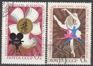 Russia #3602-3 F-VF Used  (S5771)