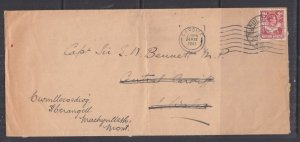 NORTHERN RHODESIA, 1941 cover, 2d. MUFILIRA to GB, British Navy label on reverse